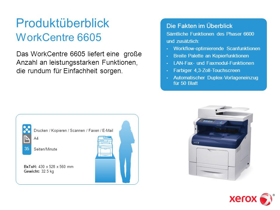 Produktüberblick WorkCentre 6605