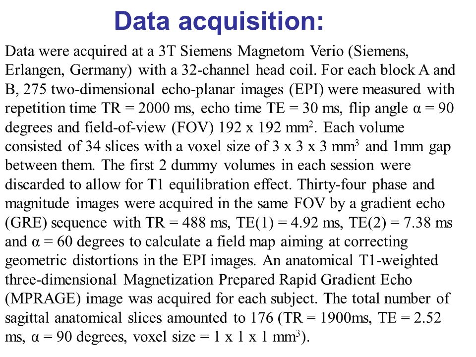 Data acquisition: