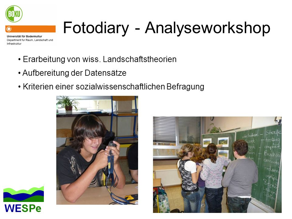 Fotodiary - Analyseworkshop