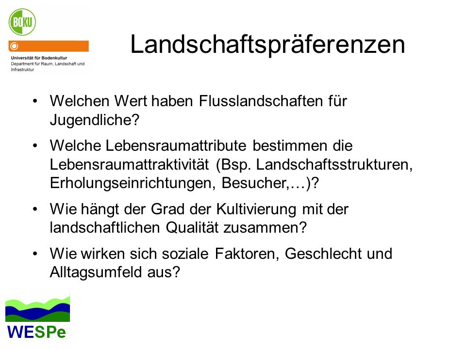 Landschaftspräferenzen