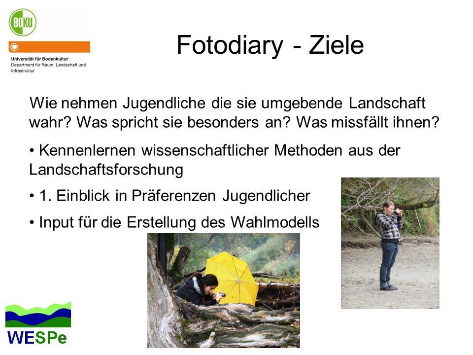 Fotodiary - Ziele Wie nehmen Jugendliche die sie umgebende Landschaft wahr Was spricht sie besonders an Was missfällt ihnen