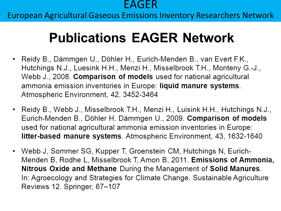 Publications EAGER Network