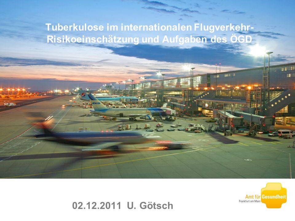 Tuberkulose im internationalen Flugverkehr- Risikoeinschätzung und Aufgaben des ÖGD