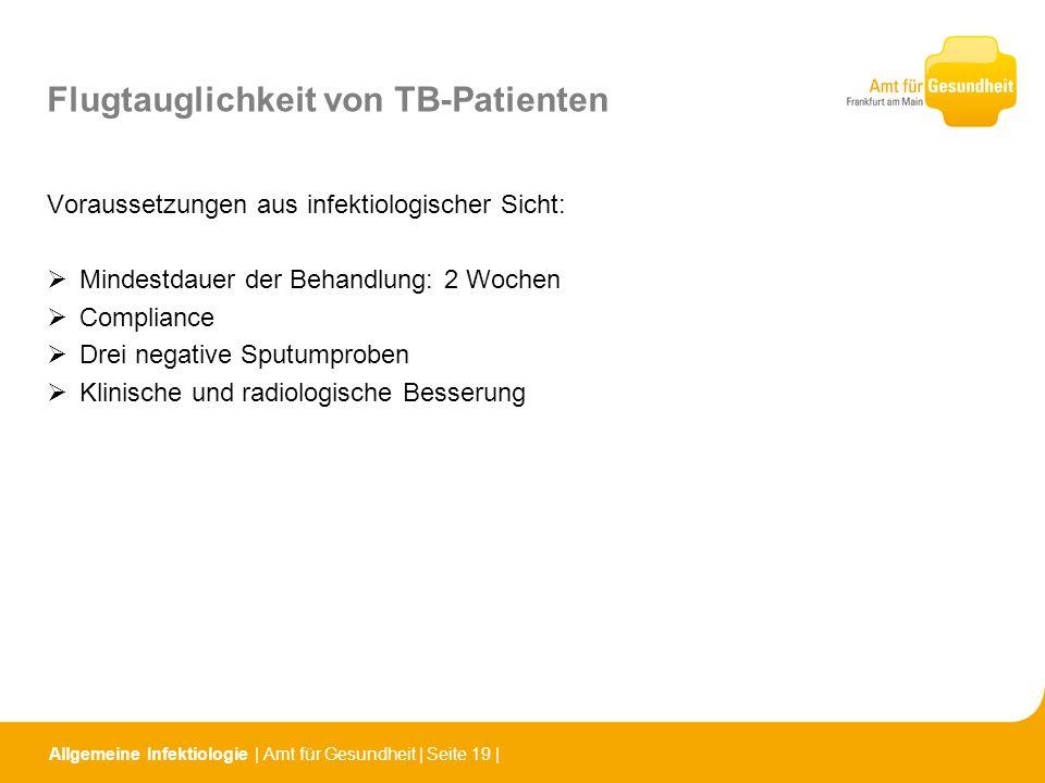 Flugtauglichkeit von TB-Patienten