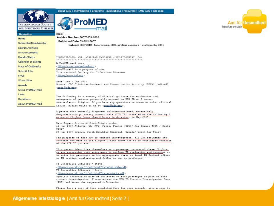 Allgemeine Infektiologie | Amt für Gesundheit | Seite 2 |