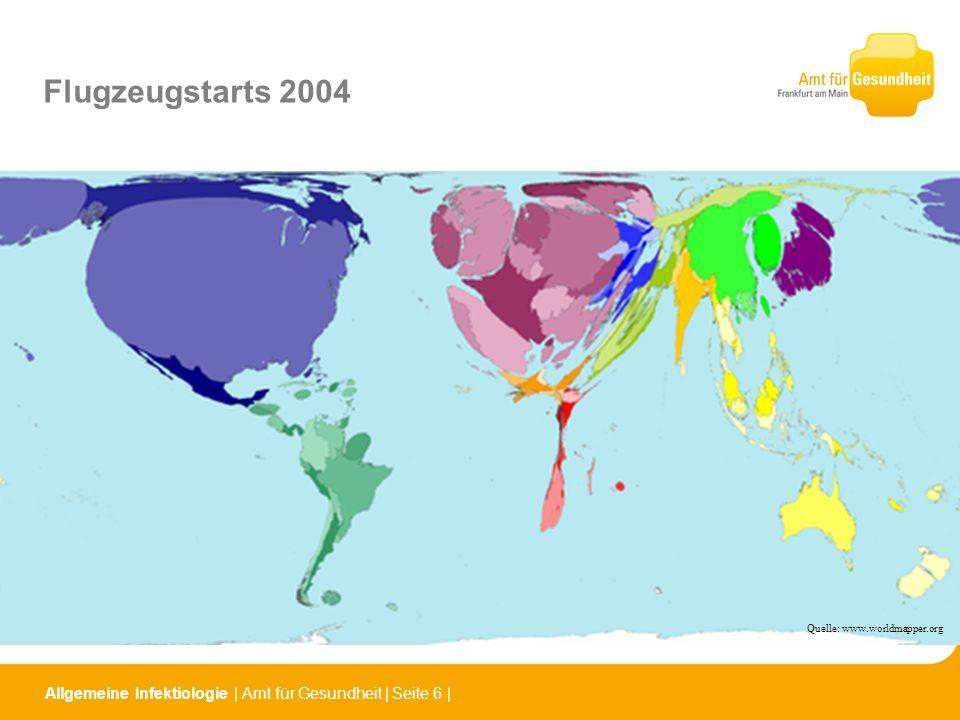 Flugzeugstarts 2004Quelle: www.worldmapper.org.