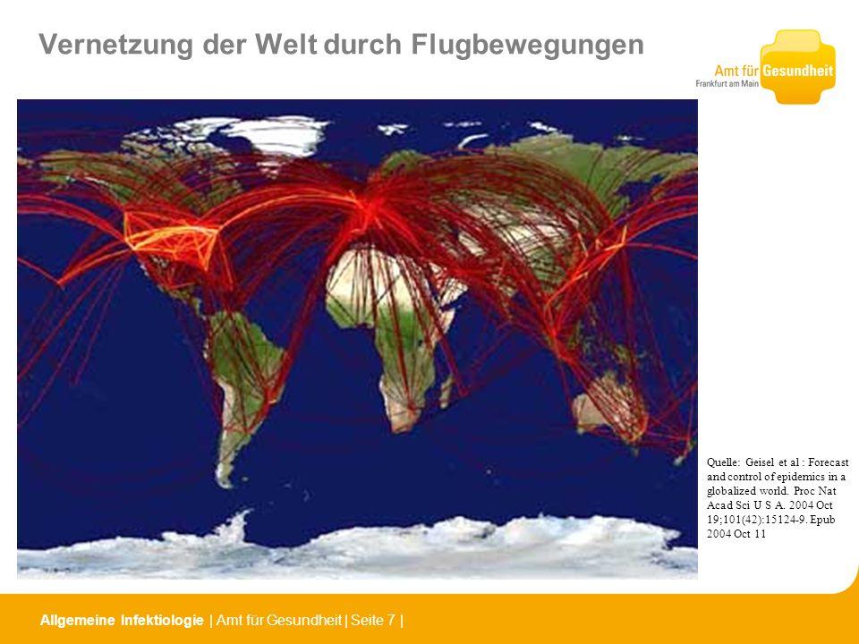 Vernetzung der Welt durch Flugbewegungen