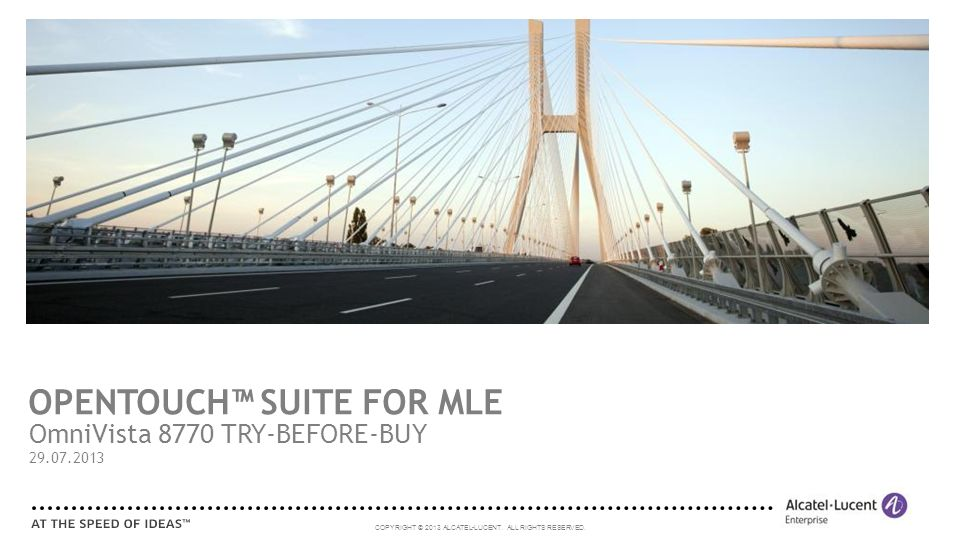 OPENTOUCH™ SUITE FOR MLE
