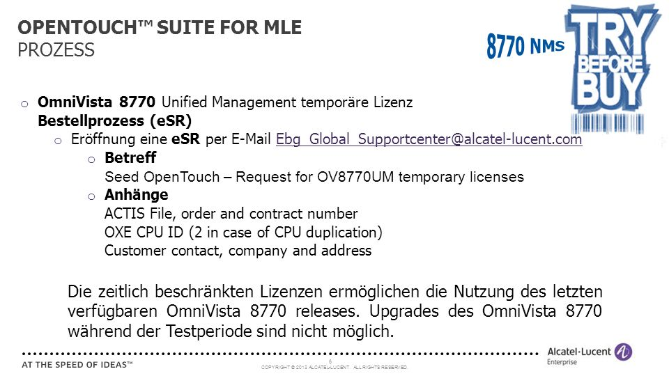 OPENTOUCH™ SUITE FOR MLE PROZESS