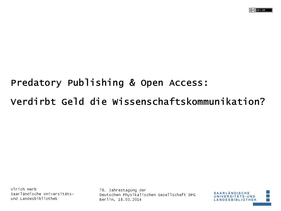 Predatory Publishing & Open Access: