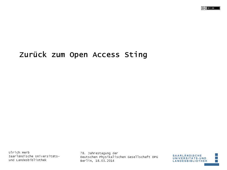 Zurück zum Open Access Sting