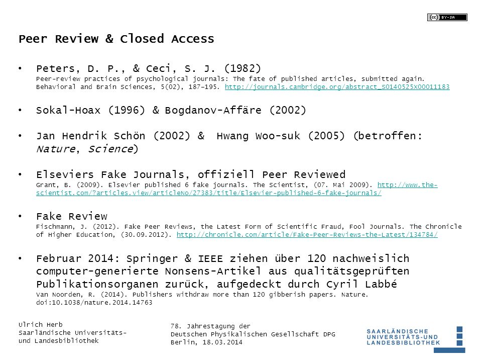 Peer Review & Closed Access