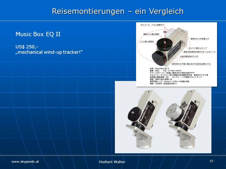 "Music Box EQ II US$ 250,- ""mechanical wind-up tracker!"