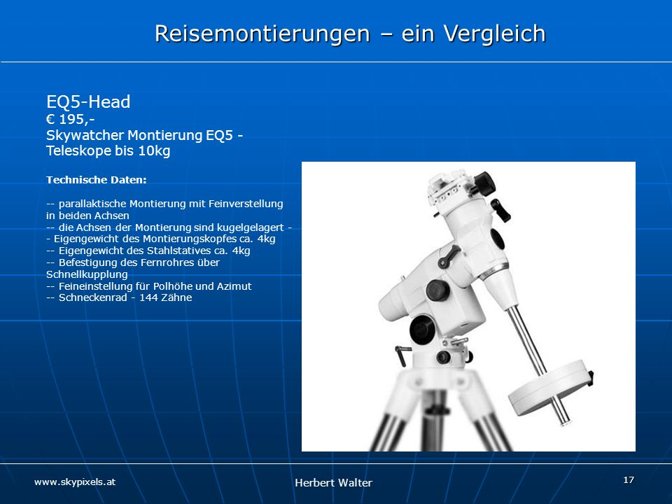 EQ5-Head € 195,- Skywatcher Montierung EQ5 - Teleskope bis 10kg