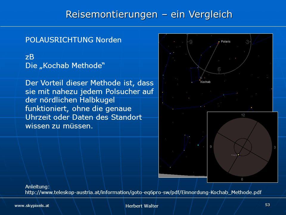 """POLAUSRICHTUNG Norden zB Die """"Kochab Methode"""