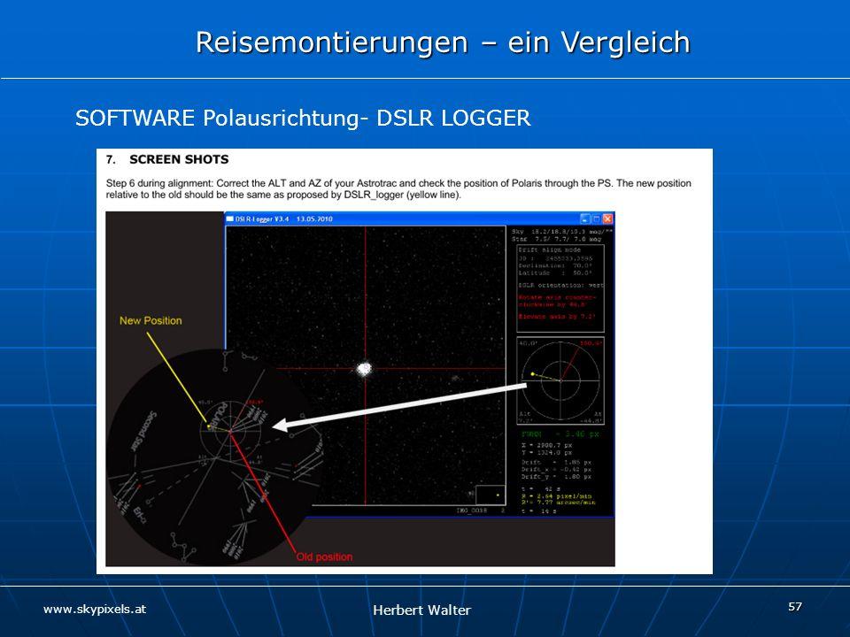 SOFTWARE Polausrichtung- DSLR LOGGER