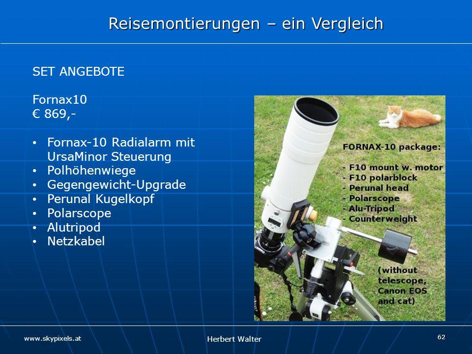 SET ANGEBOTE Fornax10. € 869,- Fornax-10 Radialarm mit UrsaMinor Steuerung. Polhöhenwiege. Gegengewicht-Upgrade.