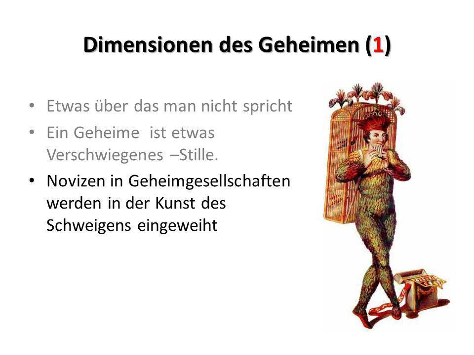 Dimensionen des Geheimen (1)
