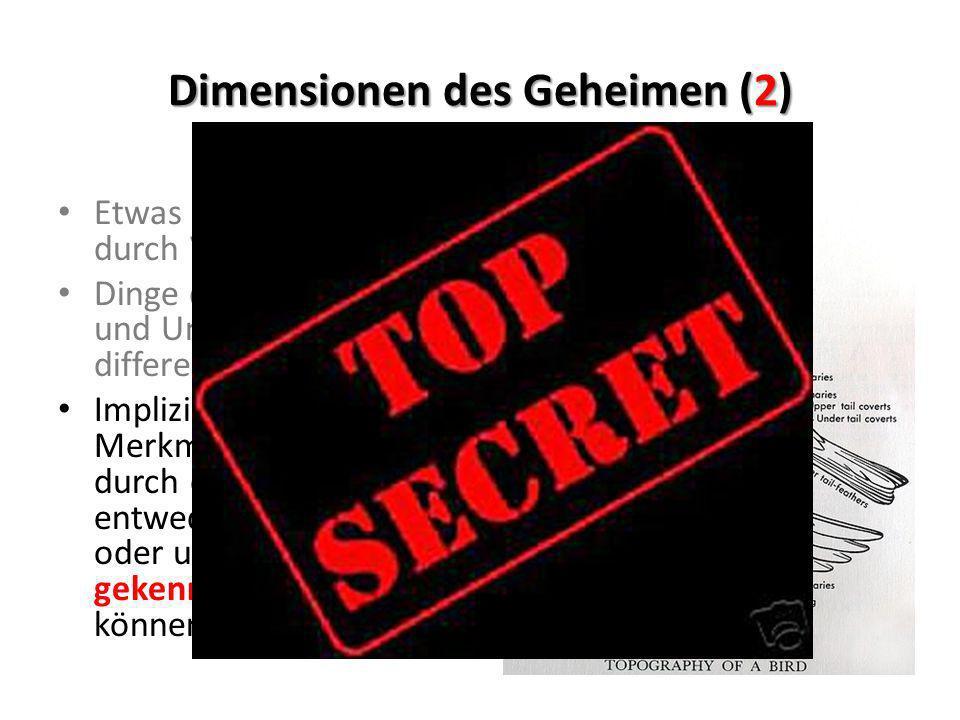 Dimensionen des Geheimen (2)
