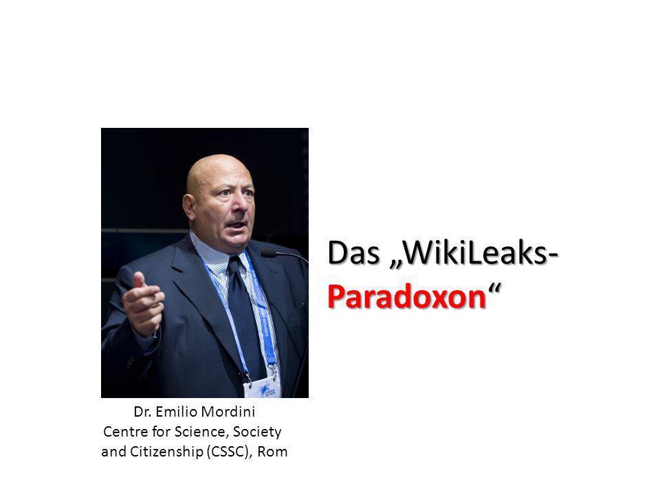 "Das ""WikiLeaks- Paradoxon"