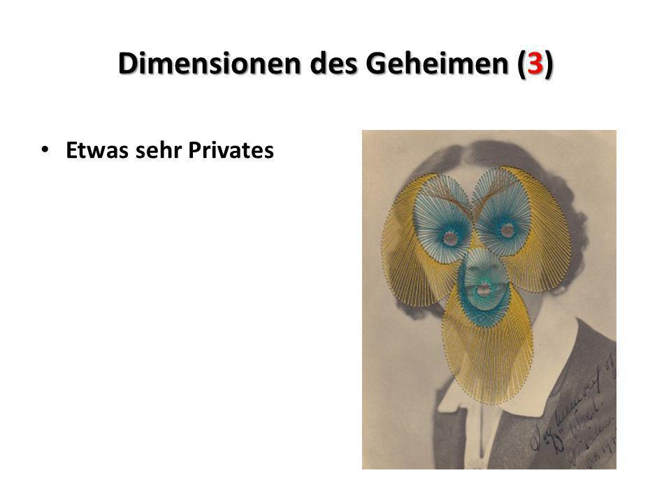 Dimensionen des Geheimen (3)