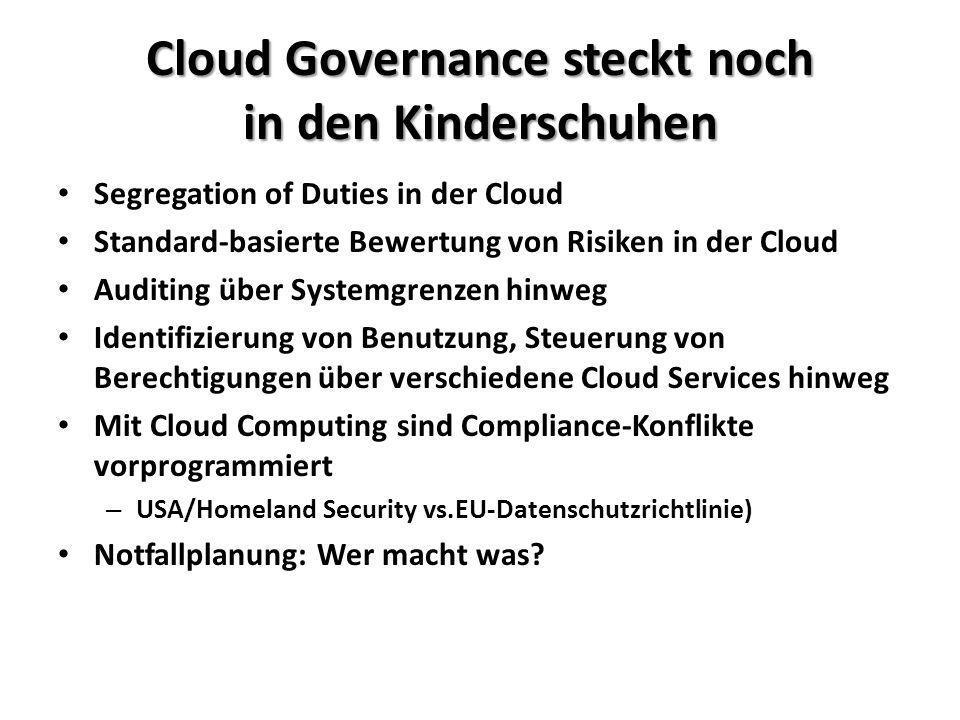 Cloud Governance steckt noch in den Kinderschuhen