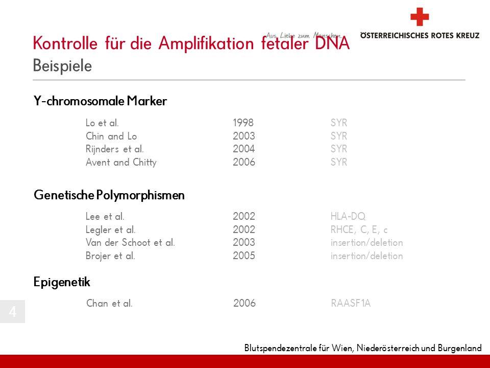 Kontrolle für die Amplifikation fetaler DNA Beispiele