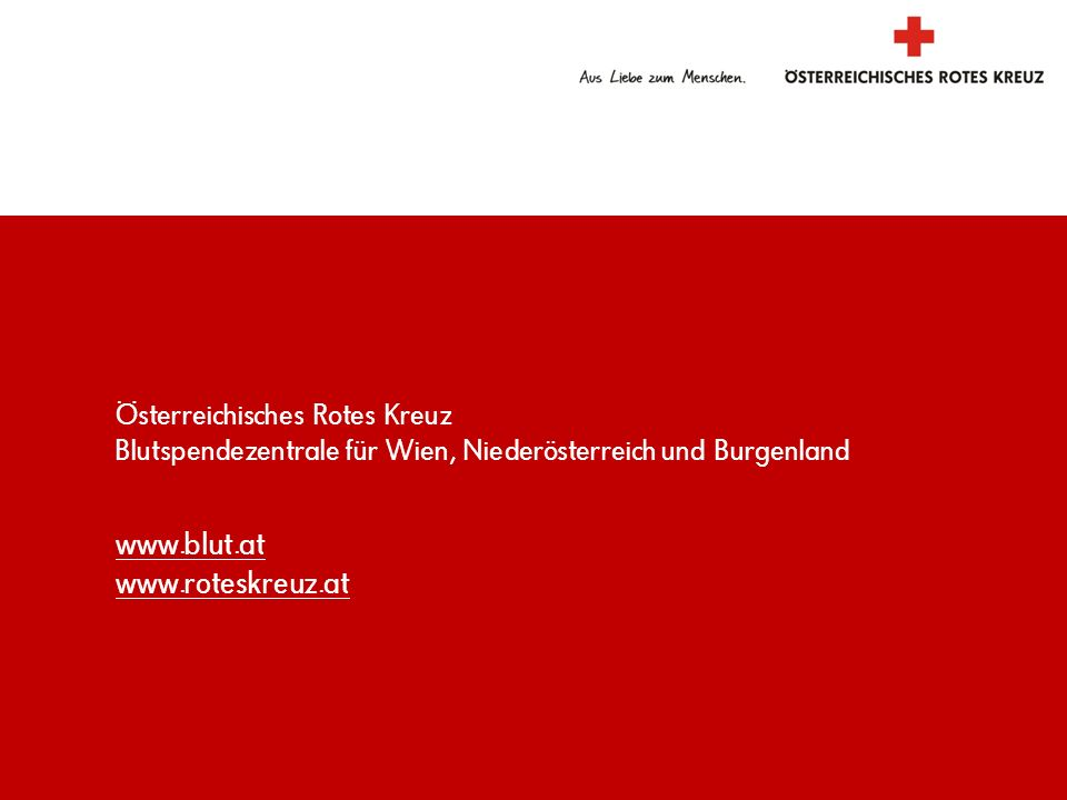 www.blut.at www.roteskreuz.at www.blut.at www.roteskreuz.at
