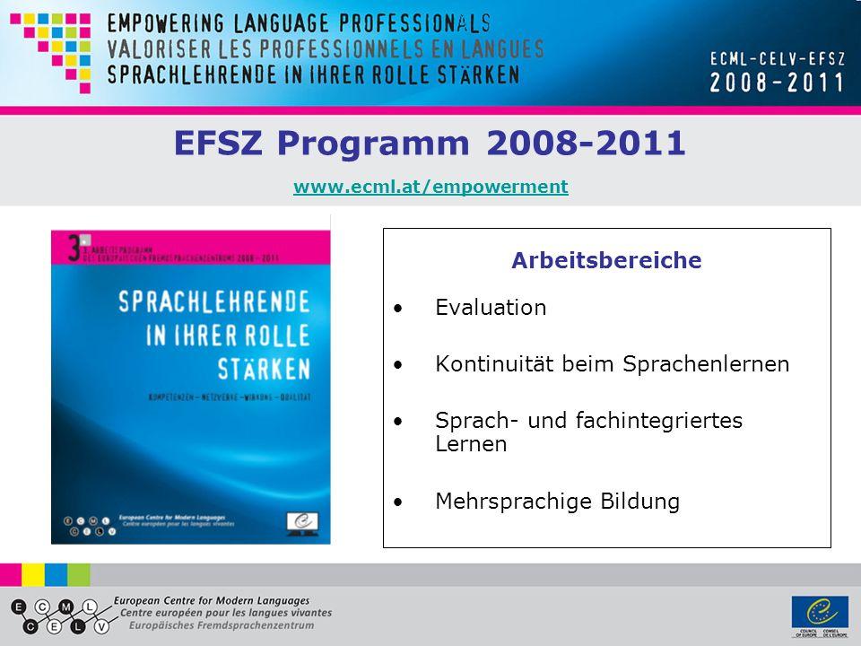 EFSZ Programm 2008-2011 www.ecml.at/empowerment