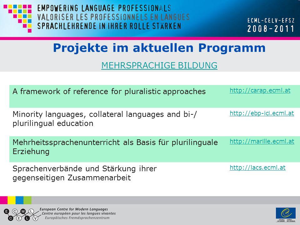 Projekte im aktuellen Programm MEHRSPRACHIGE BILDUNG