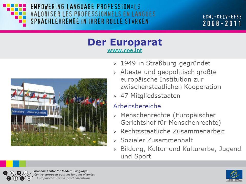 Der Europarat 1949 in Straßburg gegründet