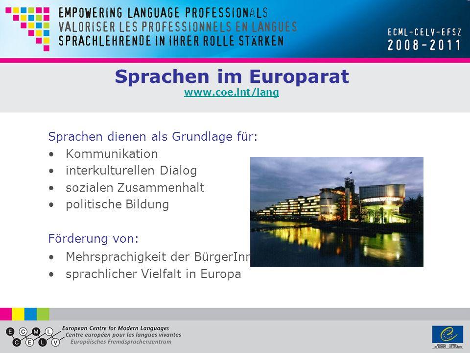 Sprachen im Europarat www.coe.int/lang