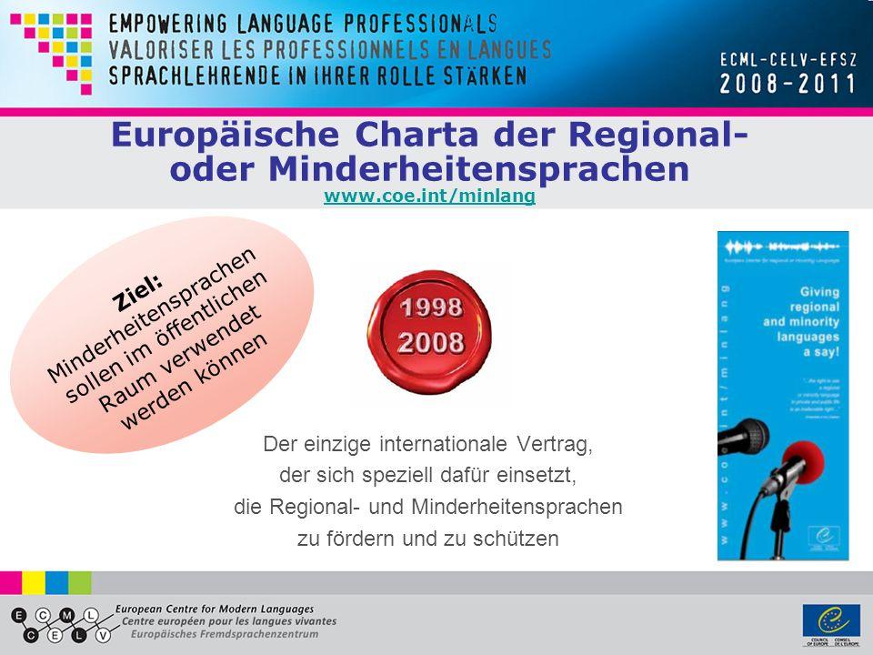 Europäische Charta der Regional- oder Minderheitensprachen www. coe