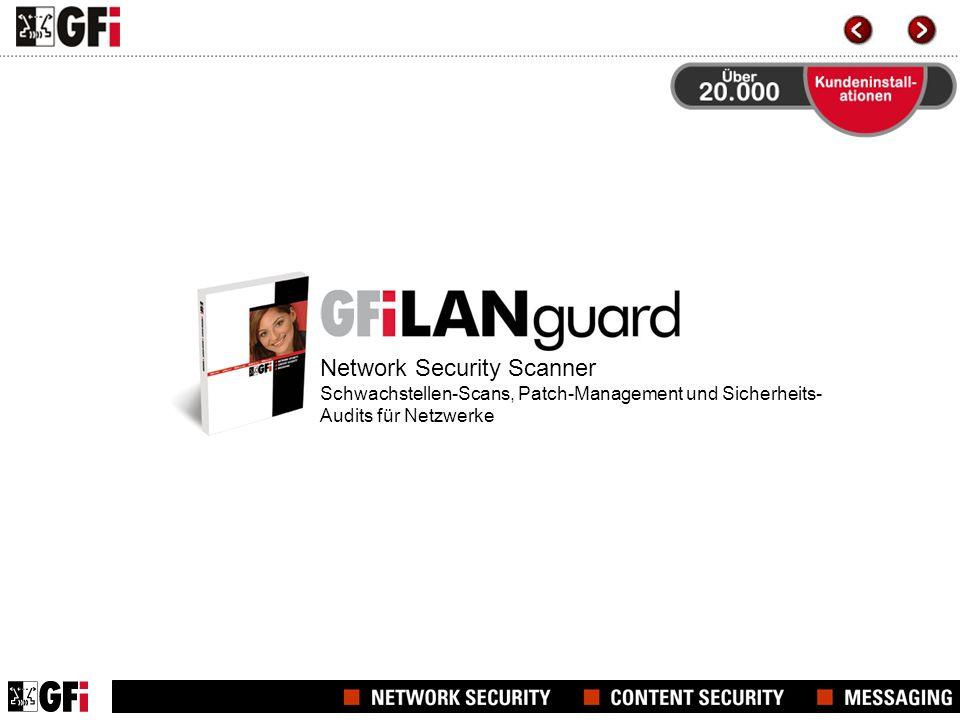 Network Security Scanner Schwachstellen-Scans, Patch-Management und Sicherheits-Audits für Netzwerke
