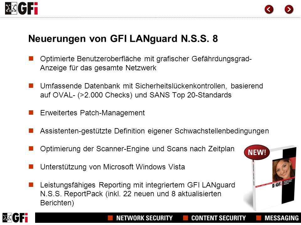 Neuerungen von GFI LANguard N.S.S. 8