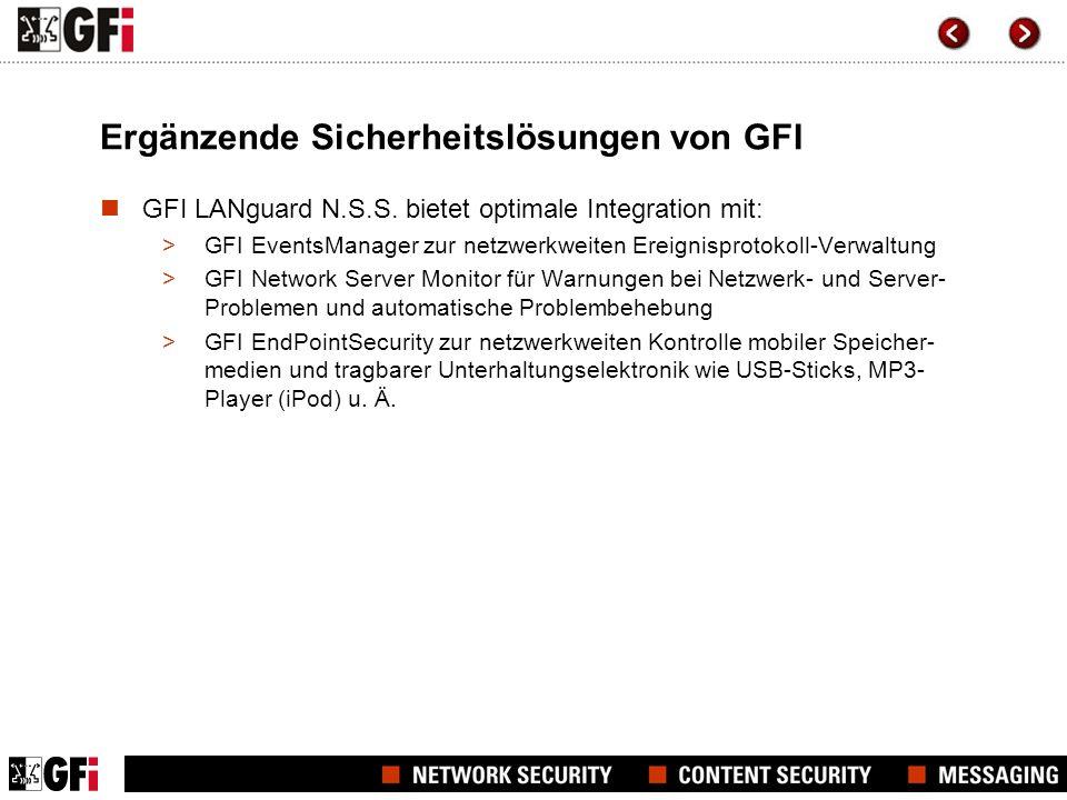 Ergänzende Sicherheitslösungen von GFI