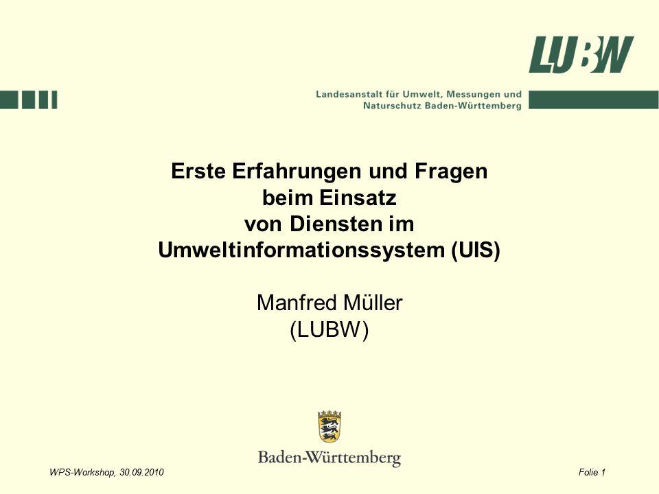 Erste Erfahrungen und Fragen Umweltinformationssystem (UIS)