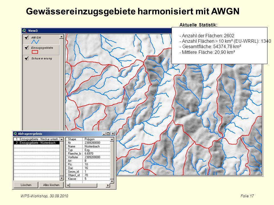 Gewässereinzugsgebiete harmonisiert mit AWGN