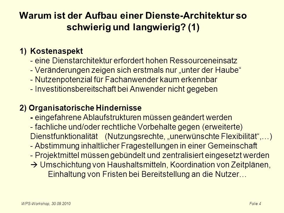 Warum ist der Aufbau einer Dienste-Architektur so schwierig und langwierig (1)