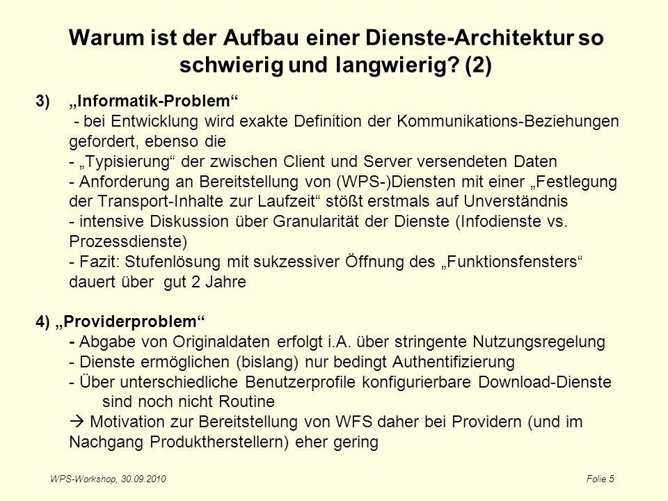 Warum ist der Aufbau einer Dienste-Architektur so schwierig und langwierig (2)