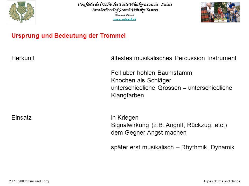 Ursprung und Bedeutung der Trommel