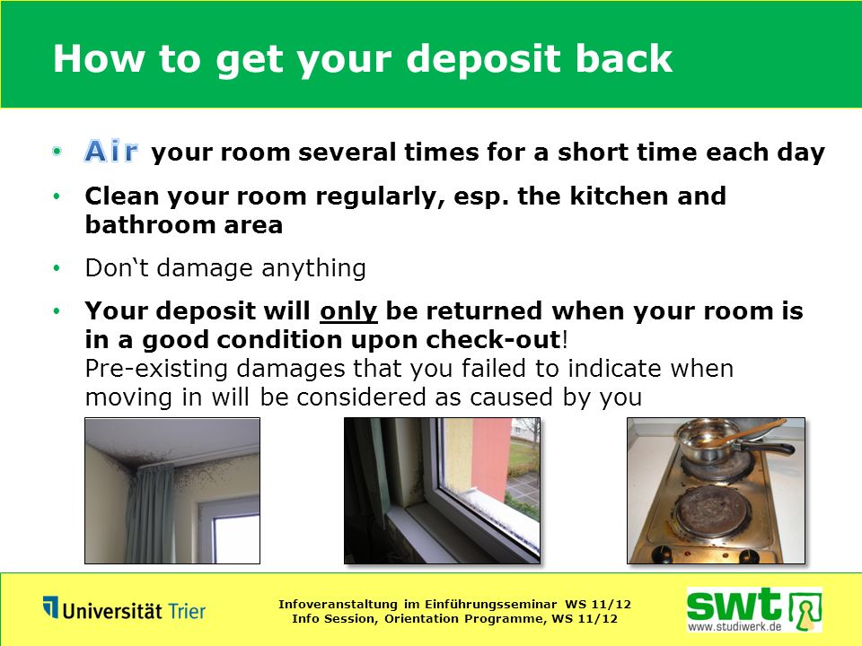 How to get your deposit back