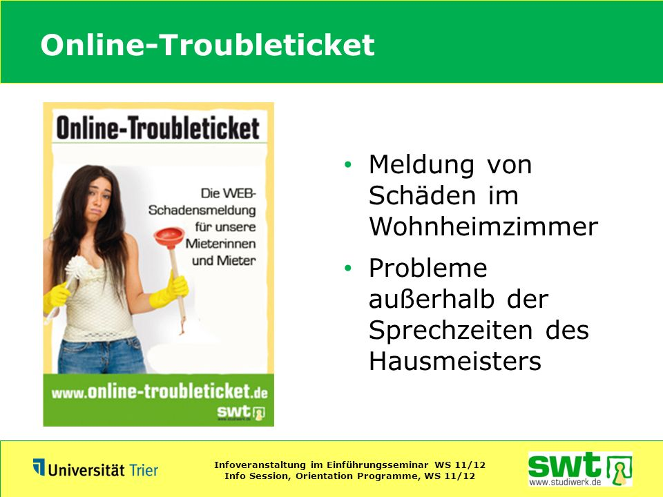 Online-Troubleticket