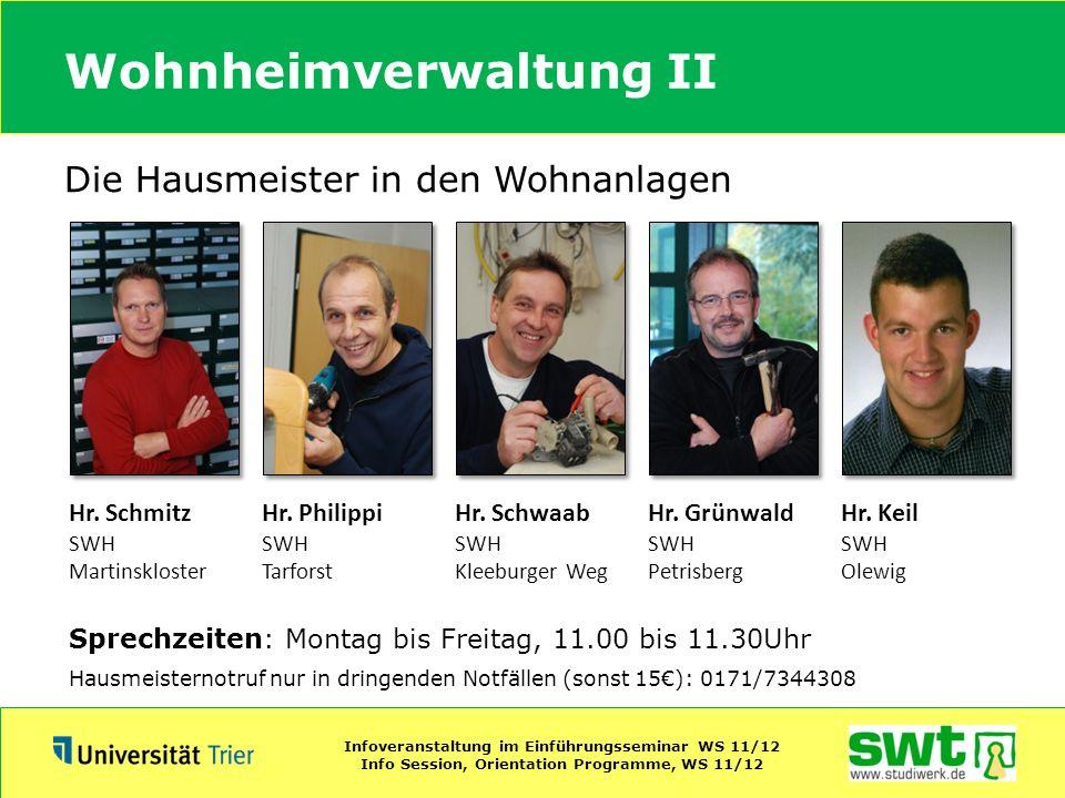 Wohnheimverwaltung II