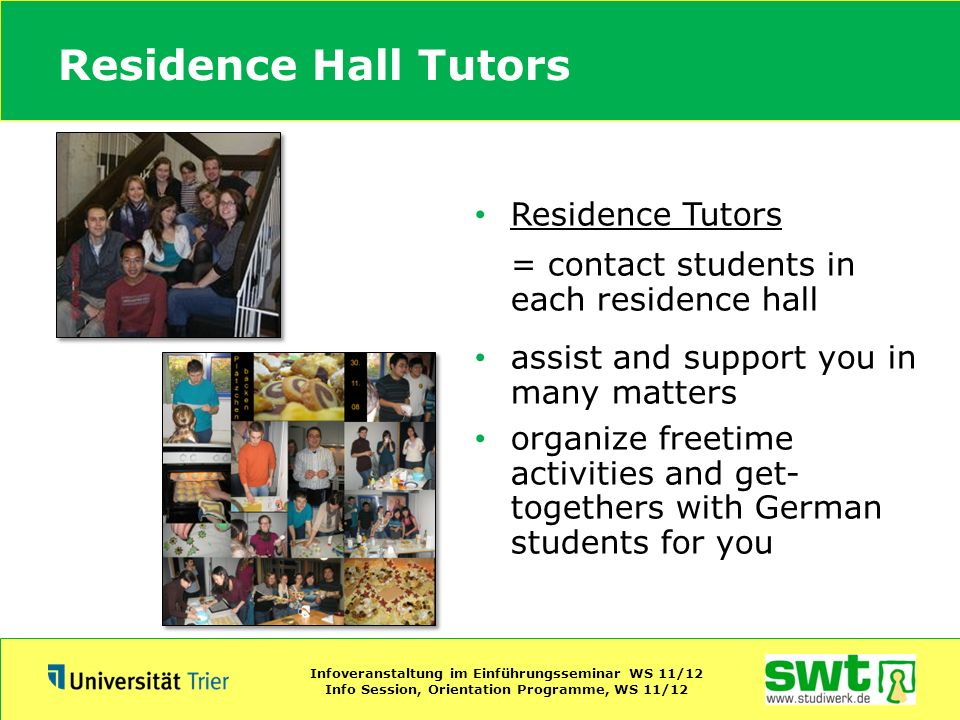 Residence Hall Tutors Residence Tutors