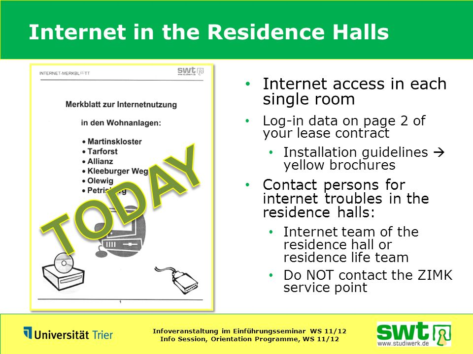 Internet in the Residence Halls