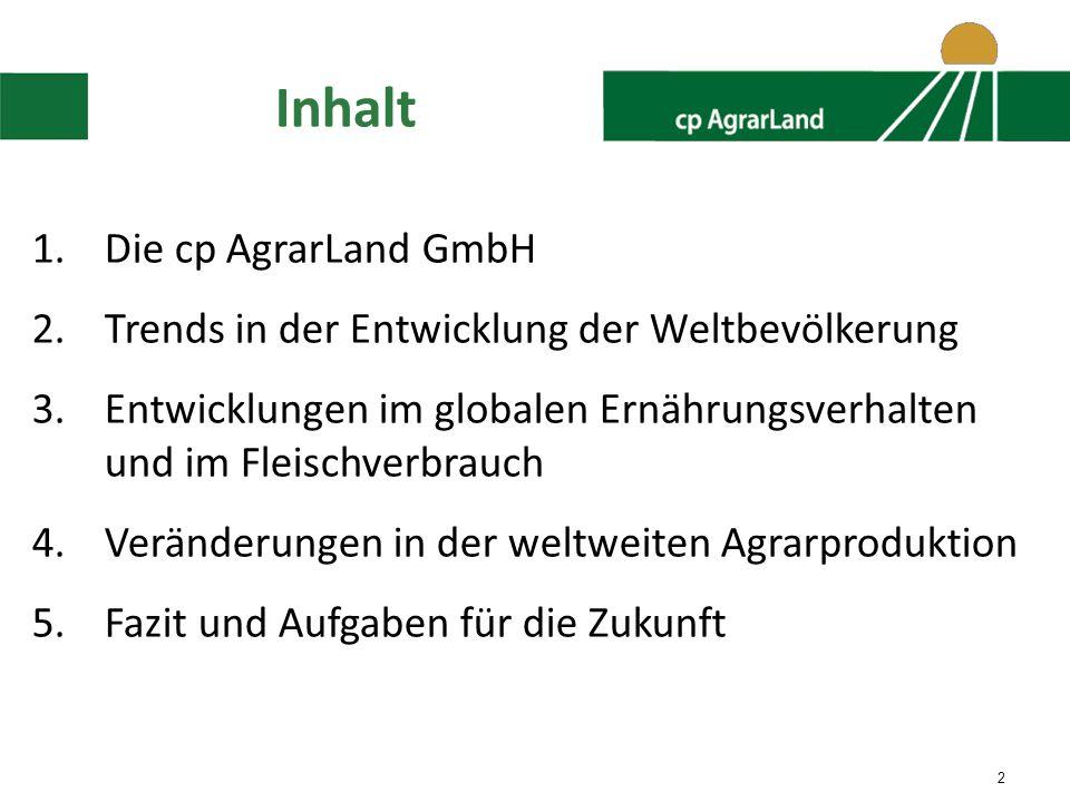 Inhalt Die cp AgrarLand GmbH