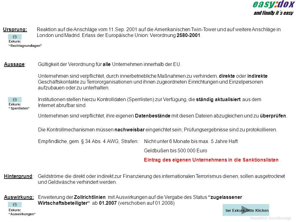 Gültigkeit der Verordnung für alle Unternehmen innerhalb der EU.