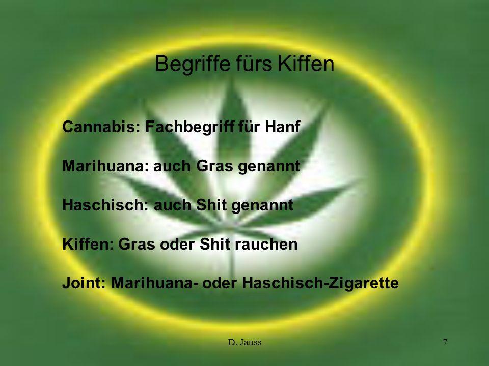 Begriffe fürs Kiffen Cannabis: Fachbegriff für Hanf