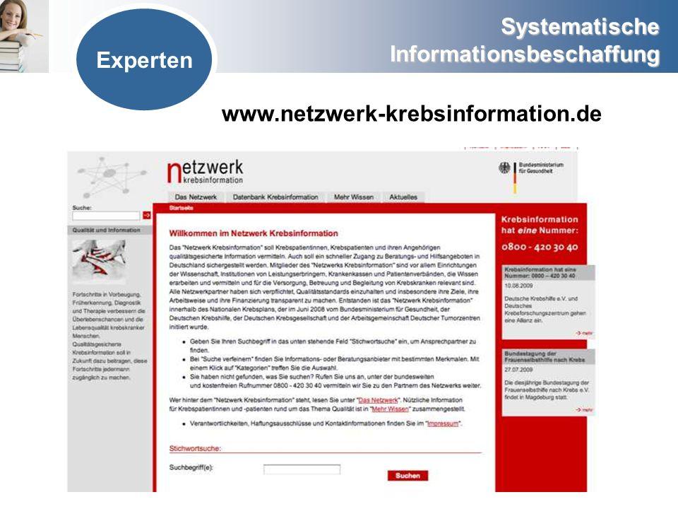 Experten www.netzwerk-krebsinformation.de